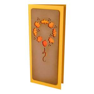 autumn wreath slim stencil card