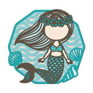 multi layer mandala cute mermaid