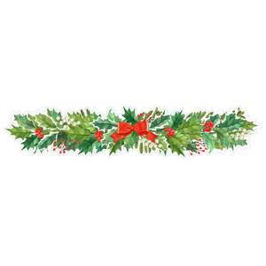 boughs of holly border design