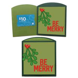 be merry gift card envelope