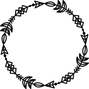 tribal arrows circle frame