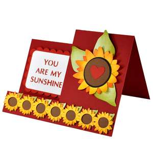 you are my sunshine side step card