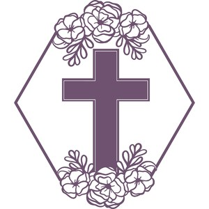 floral Christian cross