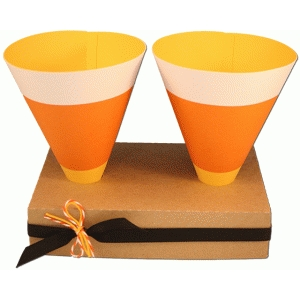3d candy corn cones with holder