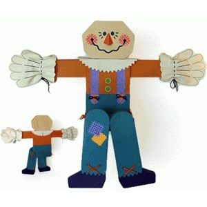3d scarecrow mantle sitter