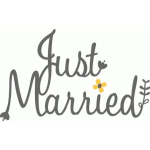 just married floral