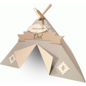short teepee place setting