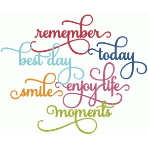 perfect flourish words - remember today