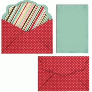 sweetly rounded envelope and liner
