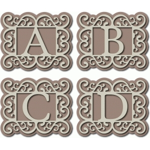 flourish monogram abcd