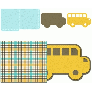 school bus tag with sleeve