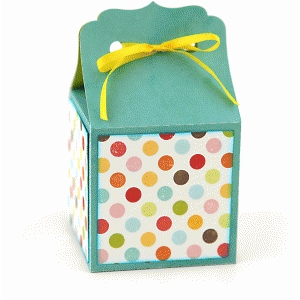 ribbon tie favor box: bracket