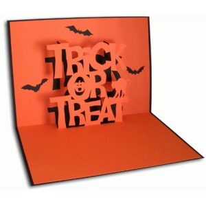 trick or treat pop-up card