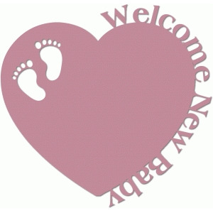 welcome new baby heart