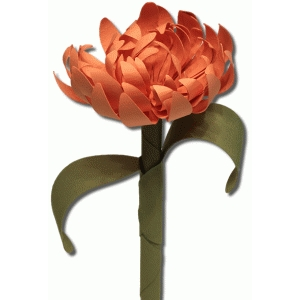3d flower with stem