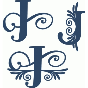 flourish monogram set - j