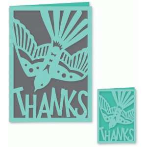 pretty swallow thank you card