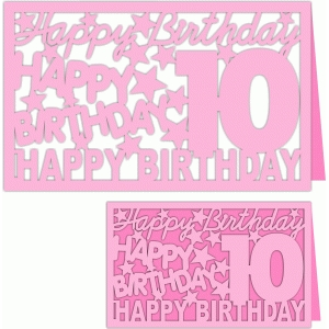 happy birthday 10 years card