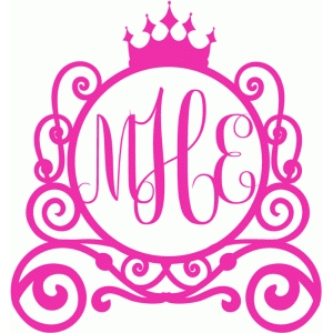 princess carriage monogram