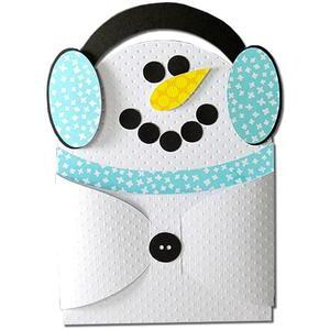 snowman earmuff hug gift card holder