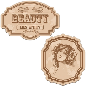 vintage labels - beauty lies within