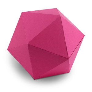 3d 20 sided shape