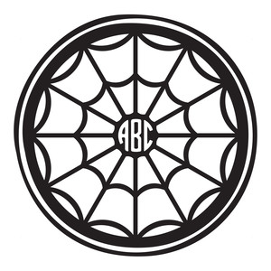 spider web monogram frame