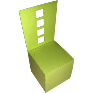 3d chair favor box