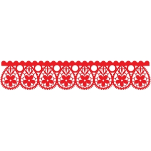 teardrop lace border