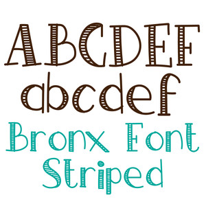 bronx font striped