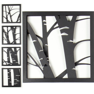 3d aspen tree shadow box