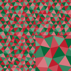 geometric christmas pattern