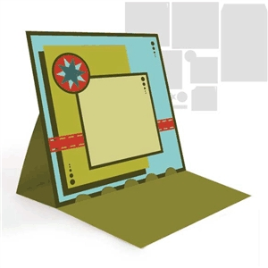 easel card- star