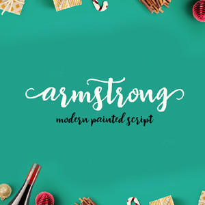 armstrong brush font