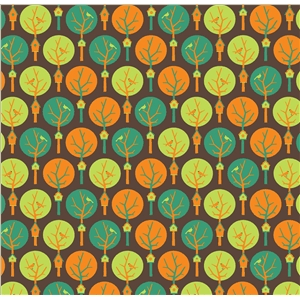 trees pattern brown background