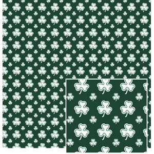 dark green shamrock pattern