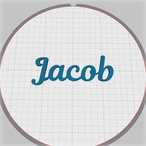 jacob name pendant
