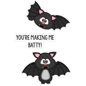 halloween you're making me batty stickers