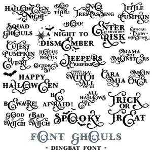 font ghouls quote dingbat font