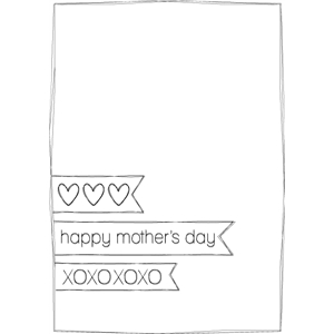 mothers day sketch card