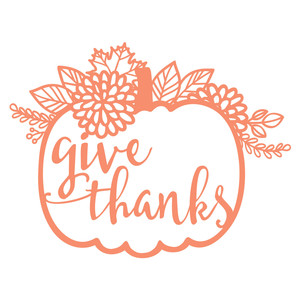 give thanks floral pumpkin