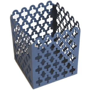 tea light cover - lattice