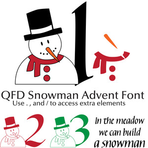 qfd snowman advent font