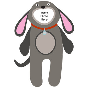 paper doll dog photo frame