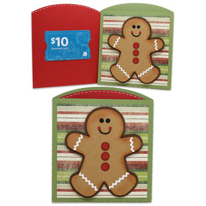 gingerbread gift card envelope