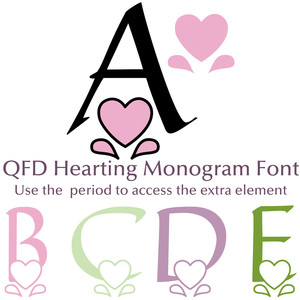 qfd hearting monogram font
