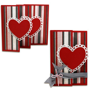 double heart surprise card