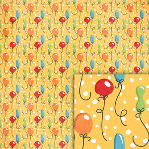 birthday balloons background paper