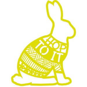 hop to it easter rabbit egg hunt sign