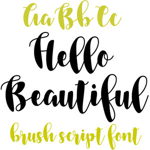 hello beautiful brush script font